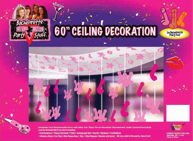 BACHELORETTE 60IN PENIS CEILING DECOR | FN61266 | [category_name]