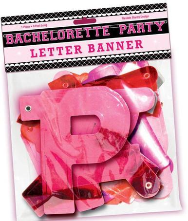 BACHELORETTE PARTY LETTER BANNER | HO2178 | [category_name]