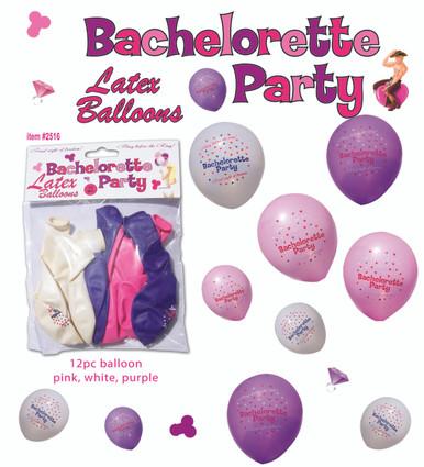 BACHELORETTE PARTY BALLOONS 12PC | HO2516BP | [category_name]