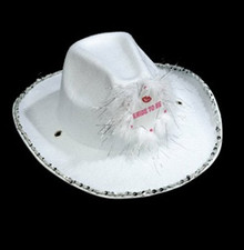 COWBOY HAT BRIDE 2B WHITE