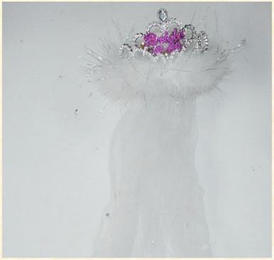 BRIDE 2B TIARA FLASHING WHITE FUR VEIL | GAFTBTBVS | [category_name]