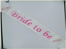 BRIDE 2B SASH W/PINK STONES