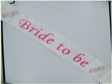 BRIDE 2B SASH W/PINK STONES | GASASHBTBW | [category_name]