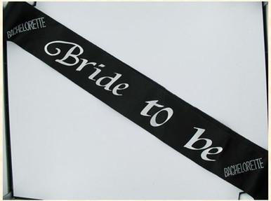 BRIDE 2B SASH BLACK W/CLEAR STONES | GASBTBBS | [category_name]