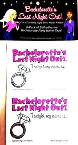 BACHELORETTE NAME BADGES