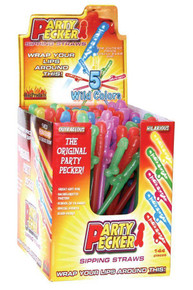 PARTY PECKER SIPPING STRAWS-144PC DISPLAY
