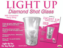 LIGHT UP DIAMOND SHOT GLASS CLEAR