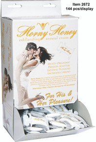 HORNY HONEY AROUSAL GEL 144PC DISPLAY