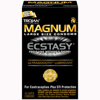 TROJAN MAGNUM ECSTASY ULTRASMOOTH LUBRICATED | T64313 | [category_name]