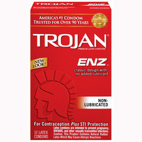 TROJAN ENZ NON-LUBRICATED 12 PACK | T90752 | [category_name]