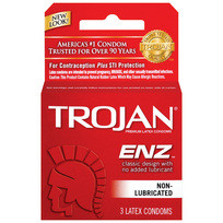 TROJAN ENZ REGULAR 3PK(NON-LUBE) | T92050 | [category_name]