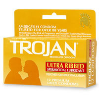 TROJAN STIMULATIONS ULTRA RIBBED 12 PACK