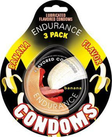ENDURANCE FLAVORED CONDOMS 3PK-BANANA