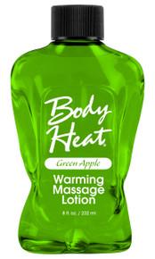 BODY HEAT WARMING MASSAGE LOTION GREEN APPLE