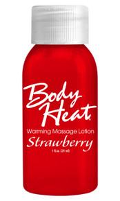 BODY HEAT WARMING MASSAGE LOTION 1OZ STRAWBERRY