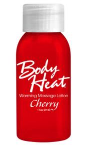 BODY HEAT WARMING MASSAGE LOTION 1OZ CHERRY