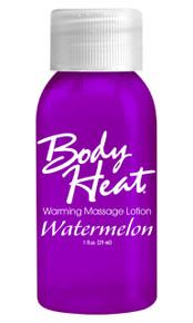 BODY HEAT WARMING MASSAGE LOTION 1OZ WATERMELON