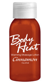 BODY HEAT WARMING MASSAGE LOTION 1OZ CINNAMON