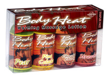 BODY HEAT WARMING MASSAGE LOTION SAMPLER 4 PACK