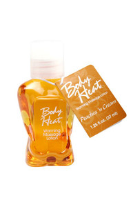 BODY HEAT WARMING MASSAGE LOTION 1.25 OZ PEACHES N CRE