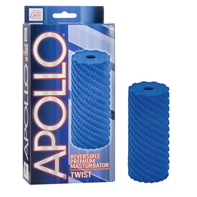 APOLLO REVERSIBLE MASTURBATOR TWIST BLUE | SE095710 | [category_name]