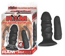 RAM PULSATING BUTT PLUG BLACK | NW2495 | [category_name]