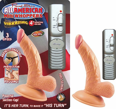 ALL AMERICAN MINI WHOPPERS 4IN CURVED DONG W/BALLS FLES | NW23911 | [category_name]