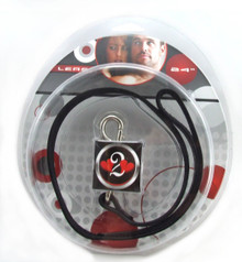 H2H LEATHER LEASH W/RED HEARTS CHAIN 24IN