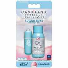 CANDILAND SUGAR BUZZ MASSAGE SET COTTON CANDY