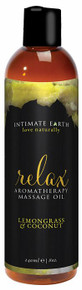 INTIMATE EARTH RELAX MASSAGE OIL 8OZ