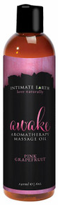 INTIMATE EARTH AWAKE MASSAGE OIL 8OZ