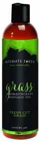 INTIMATE EARTH GRASS MASSAGE OIL 4OZ