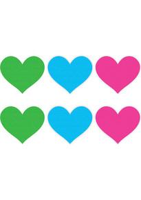PASTIES NEON HEART 3PK ASST.