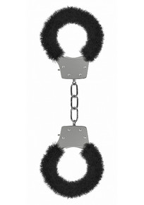 PLEASURE HANDCUFFS FURRY BLACK