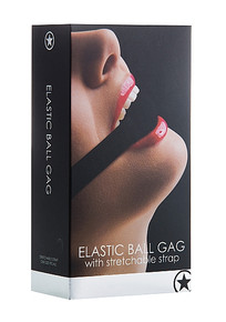 ELASTIC BALL GAG BLACK
