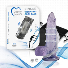 DOCTOR LOVE ZINGER VIBRATING SLEEVE CLEAR
