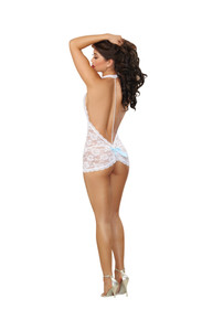 T BACK CHEMISE & G STRING O/S WHITE