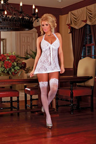 BABY DOLL & G STRING WHITE MEDIUM
