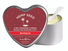 CANDLE 3 N 1 HEART BURNING UP 4 OZ