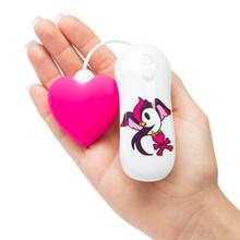 TOKIDOKI 7 FUNCTION SILICONE PINK HEART CLITORAL VIBRATOR (NET)