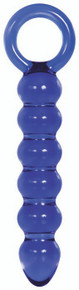 ADAM & EVE COBALT GLASS DILDO