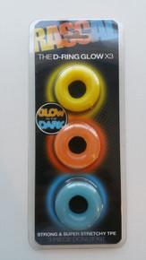 RASCAL D RING GLOW X3 COCK RINGS