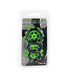 SILICONE STRETCHY RINGS BLACK 3 PACK