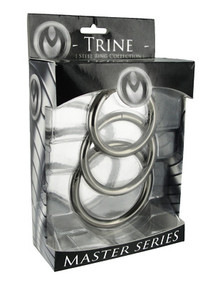 MASTER SERIES TRINE STEEL COCK RING SET