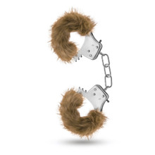 (BULK) TEMPTASIA PLUSH FUR CUFFS BROWN