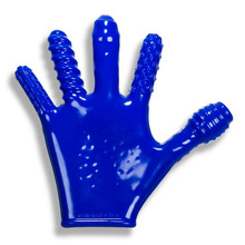 FINGER FUCK TEXTURED GLOVE OXBALLS POLICE BLUE