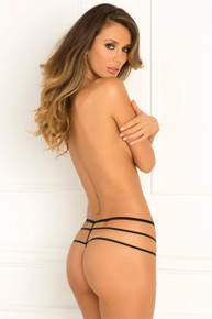 CROTCHLESS WANTED & WILD PANTY BLACK M/L (NET)