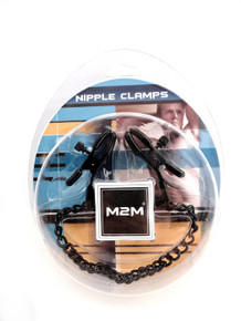 NIPPLE CLAMPS SMALL PLIER BLACK W/CHAIN