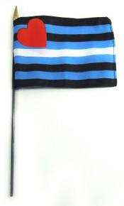 LEATHER STICK 4 X 6 FLAG