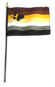 BEAR STICK 4 x 6 FLAG